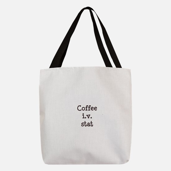 FIN-coffee-iv-stat-TRANS.png Polyester Tote Bag