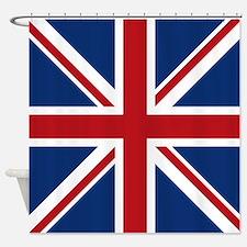 Unique Flags british Shower Curtain