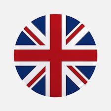 "United Kingdom Union Jack Flag 3.5"" Button"