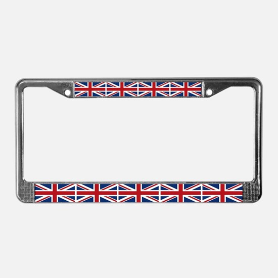 United Kingdom Union Jack Flag License Plate Frame