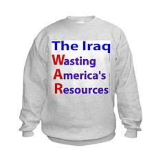 Wasting America's Resources Sweatshirt