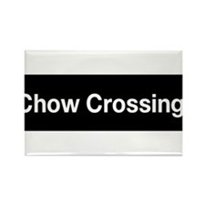 Chow Crossing T-Shirt Rectangle Magnet