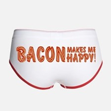 Bacon Makes Me Happy Women's Boy Brief
