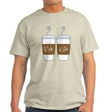 Castle Morning Coffee Cups Light T-Shirt