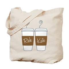 Castle Morning Coffee Cups Tote Bag