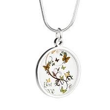 Best Niece Silver Round Necklace