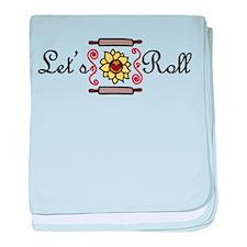 Let's Roll baby blanket