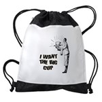 FIN-the-big-cup.png Drawstring Bag