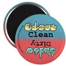 "Clean-Dirty Dishwasher 2.25"" Magnet (10 pack)"