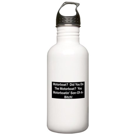 Motorboat T-Shirt Stainless Water Bottle 1.0L