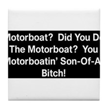 Motorboat T-Shirt Tile Coaster
