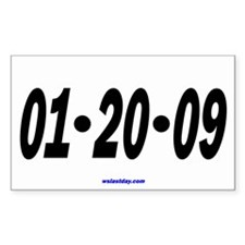 Just the Date Rectangle Decal