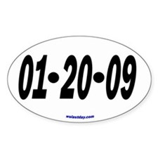 Just the Date Oval Decal