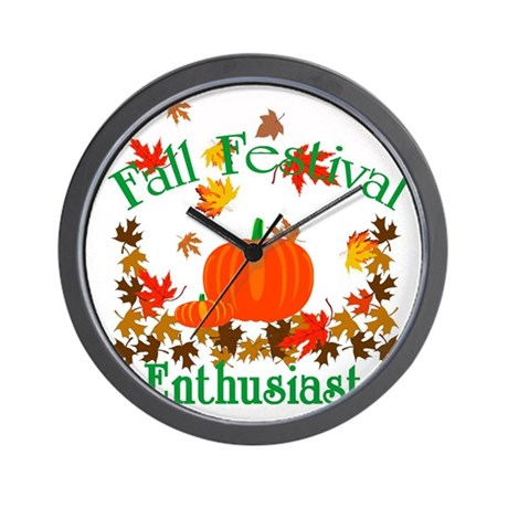 Fall Festival Enthusiast Wall Clock