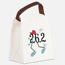 Funny Marathoner 26.2 Canvas Lunch Bag