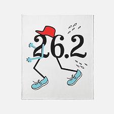 Funny Marathoner 26.2 Throw Blanket