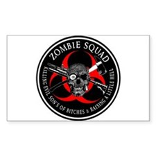 Zombie Squad 3 Ring Patch outlined Decal