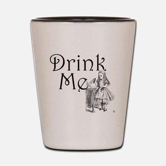 Funny Alice in wonderland Shot Glass