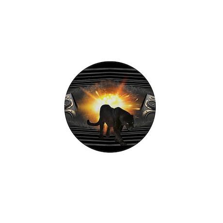 Black Panther Music Design Mini Button