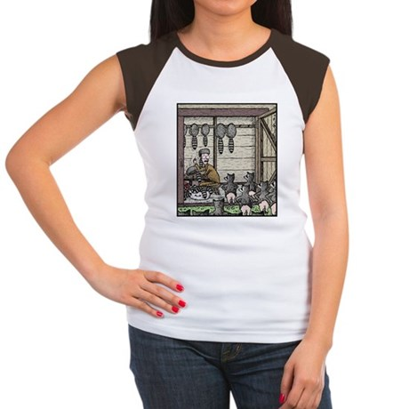 Angry Racoons Women's Cap Sleeve T-Shirt
