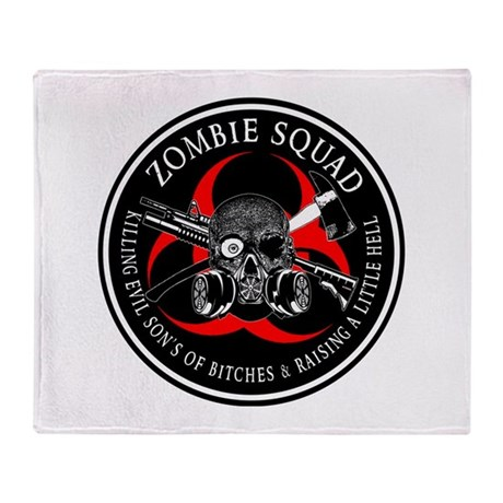 Biohazard Zombie Squad 3 Ring Patch outlined Stad