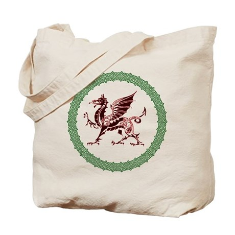 Celtic Knots And Red Dragon Tote Bag