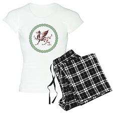 Celtic Knots And Red Dragon Pajamas