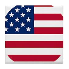 USA United States Circle Design Tile Coaster