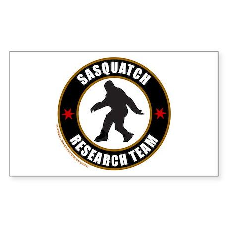 SASQUATCH RESEARCH TEAM Sticker (Rectangle)