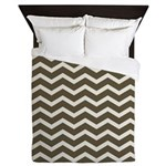 Brown Cocoa Chevron Queen Duvet