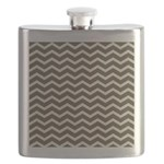 Brown Cocoa Chevron Flask
