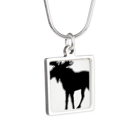 MOOSE Silver Square Necklace