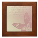 Creamy Pink Butterfly Framed Tile