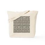Brown Cocoa Vintage Keys Tote Bag