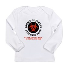 zombie outbreak response team Long Sleeve Infant T