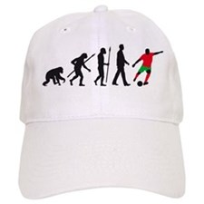 evolution soccer player Baseball Cap