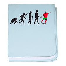 evolution soccer player baby blanket