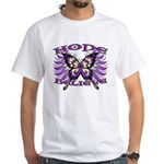 Hope Believe Alzheimers White T-Shirt