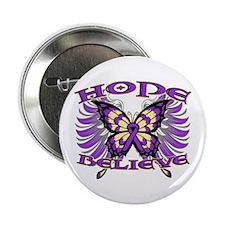 """Hope Believe Alzheimers 2.25"""" Button"""