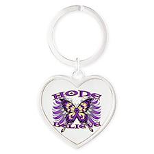 Hope Believe Alzheimers Heart Keychain