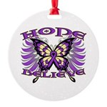 Hope Believe Alzheimers Round Ornament