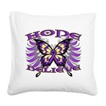 Hope Believe Alzheimers Square Canvas Pillow