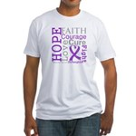 Hope Courage Alzheimers Fitted T-Shirt