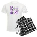 Hope Courage Alzheimers Men's Light Pajamas
