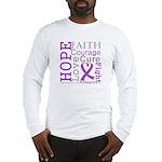 Hope Courage Alzheimers Long Sleeve T-Shirt