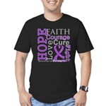 Hope Courage Alzheimers Men's Fitted T-Shirt (dark