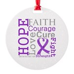 Hope Courage Alzheimers Round Ornament