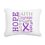 Hope Courage Alzheimers Rectangular Canvas Pillow