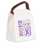 Hope Courage Alzheimers Canvas Lunch Bag