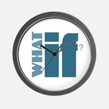 What If? - Blue Wall Clock